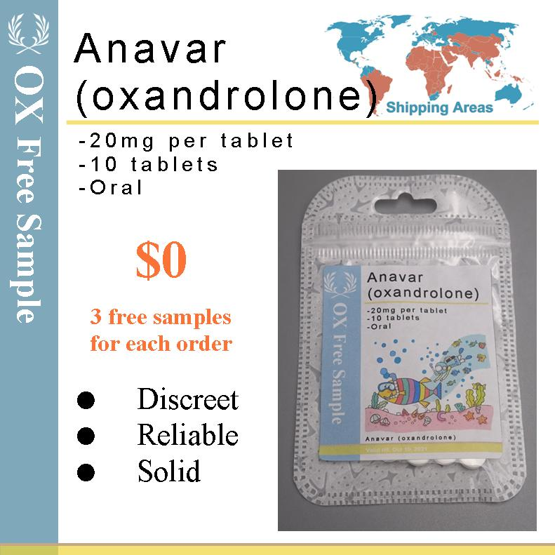 FREE GMP Anavar Oxandrolone Tablets 20mg x 10