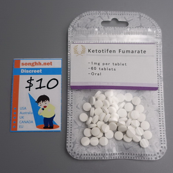 Hospital Ketotifen Fumarate Tablets 1mg x 60 tablets $10